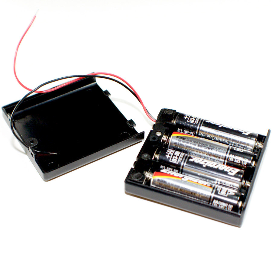 4 AA batteries in a case